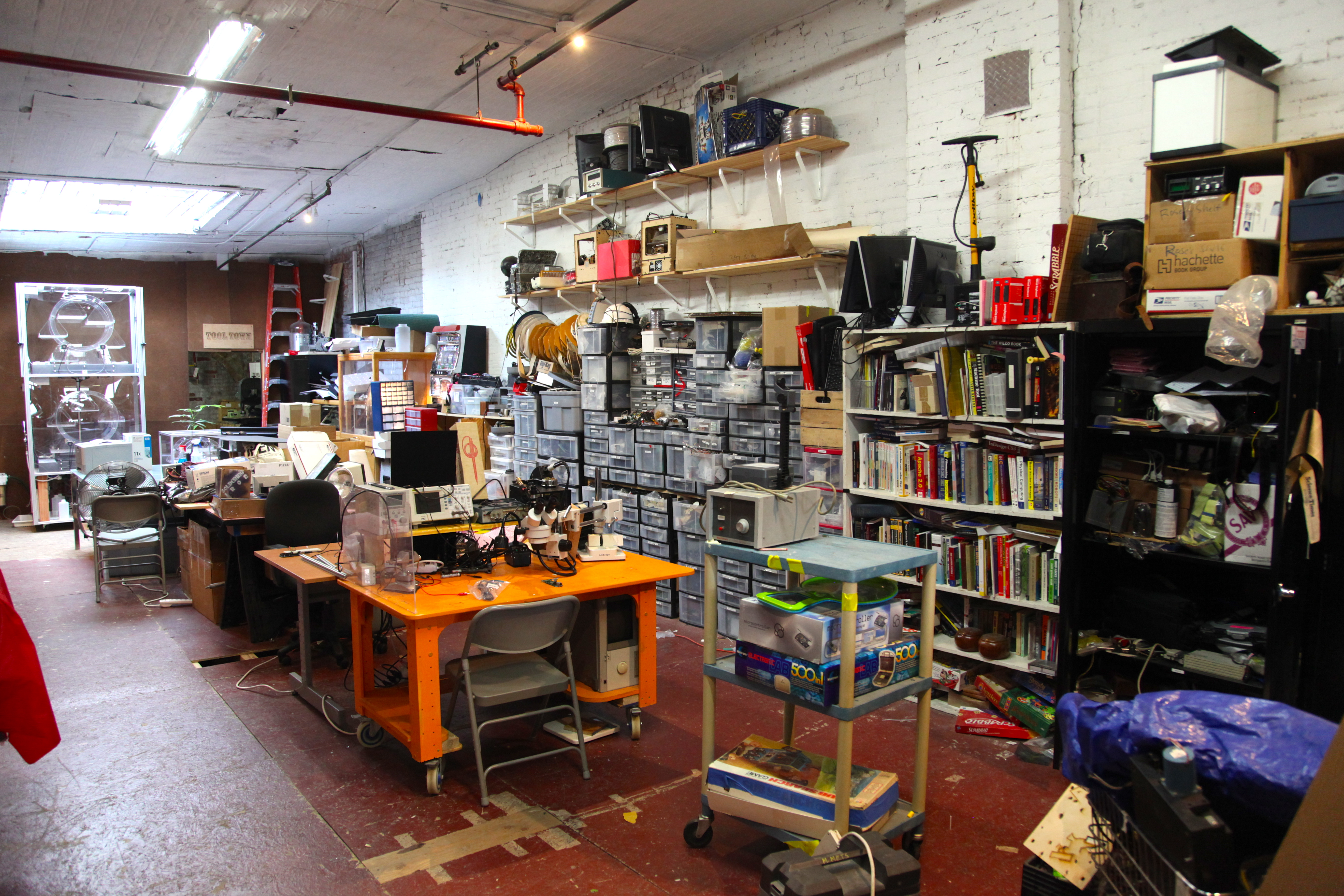 NYC Resistor's back room. Photo by Signe Brewster.