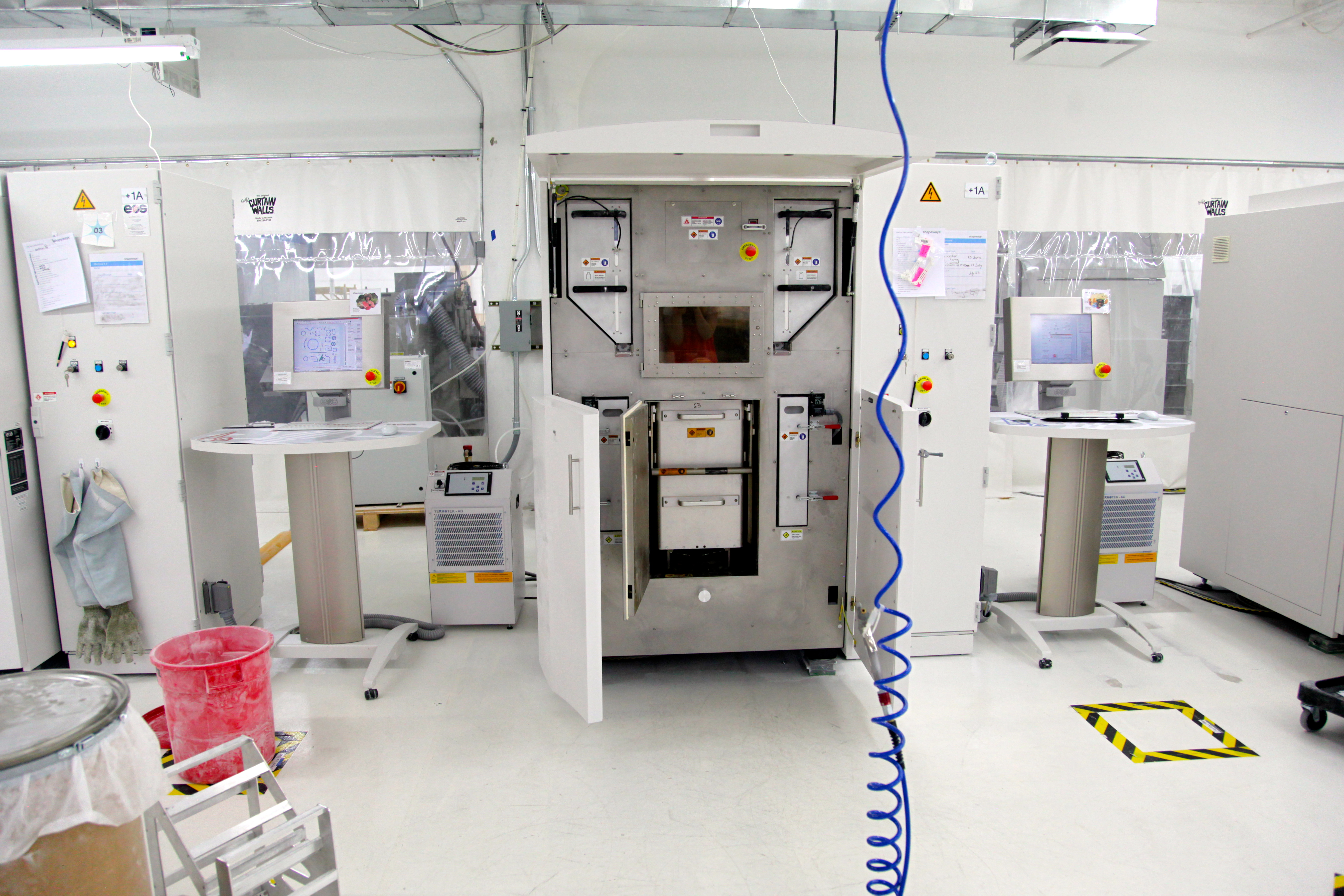 A professional grade SLS 3D printer at the Shapeways factory in New York. Photo by Signe Brewster.