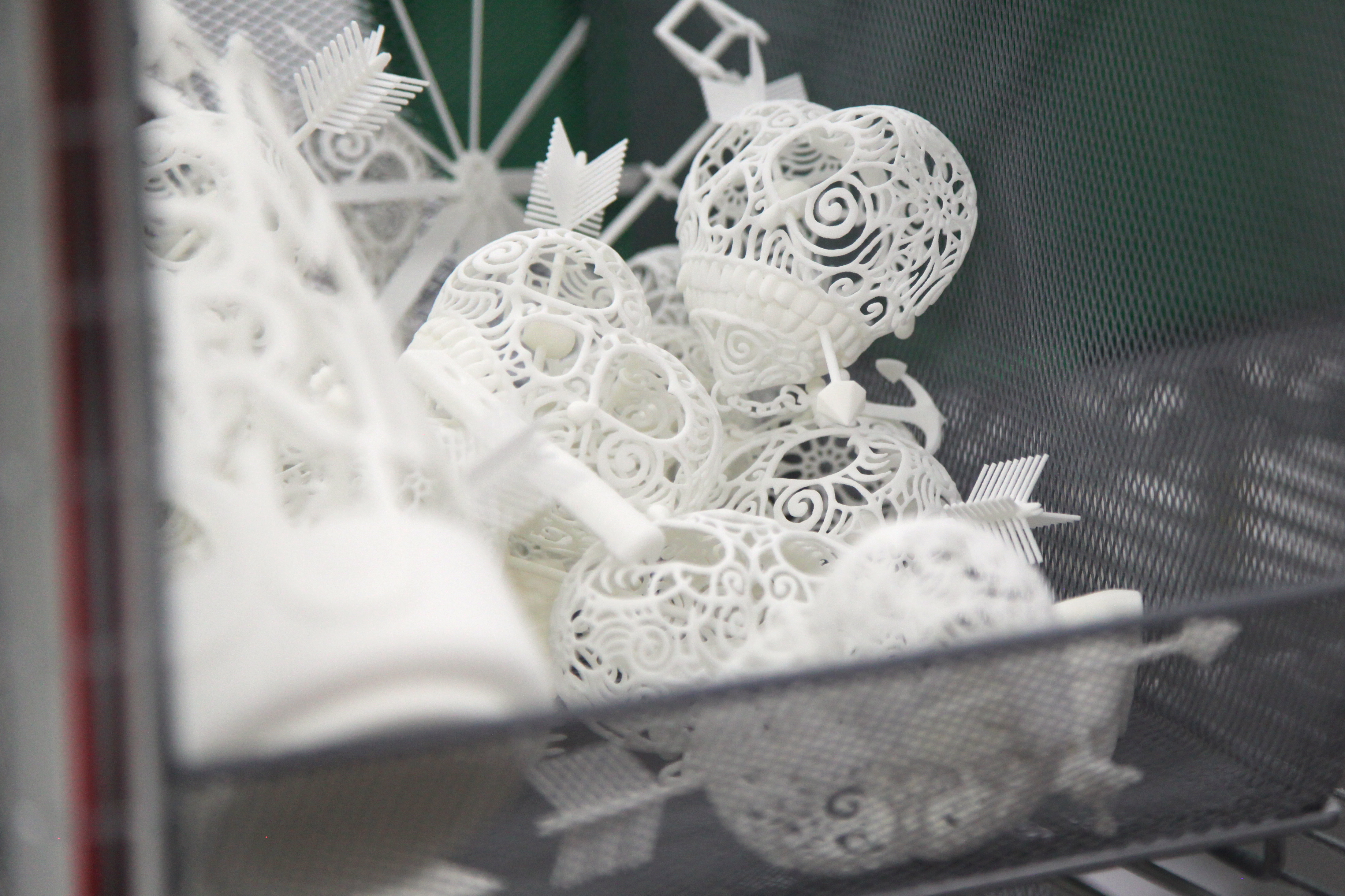 Shapeways factory 3D printed objects