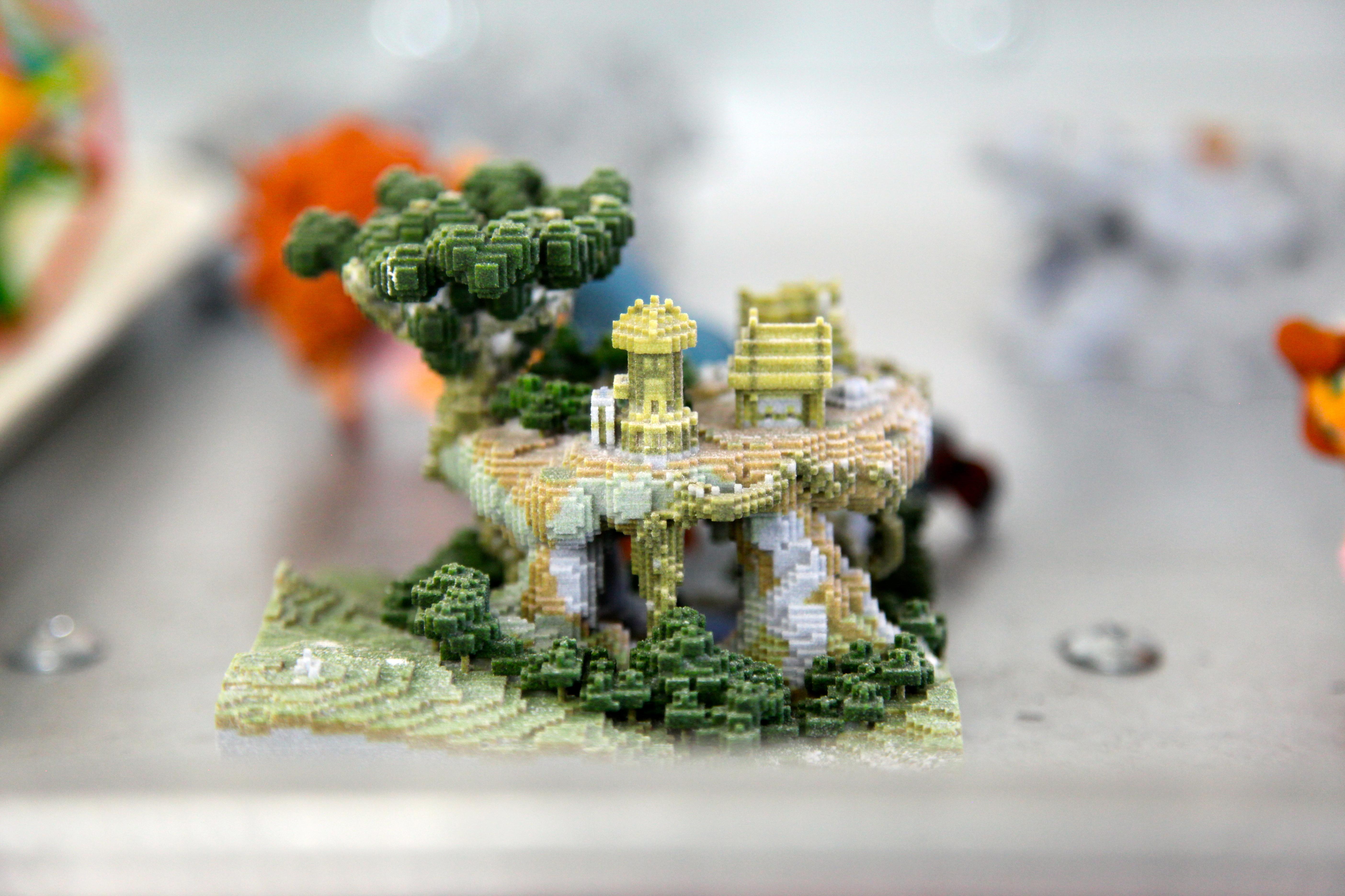 Shapeways factory 3D printed Minecraft