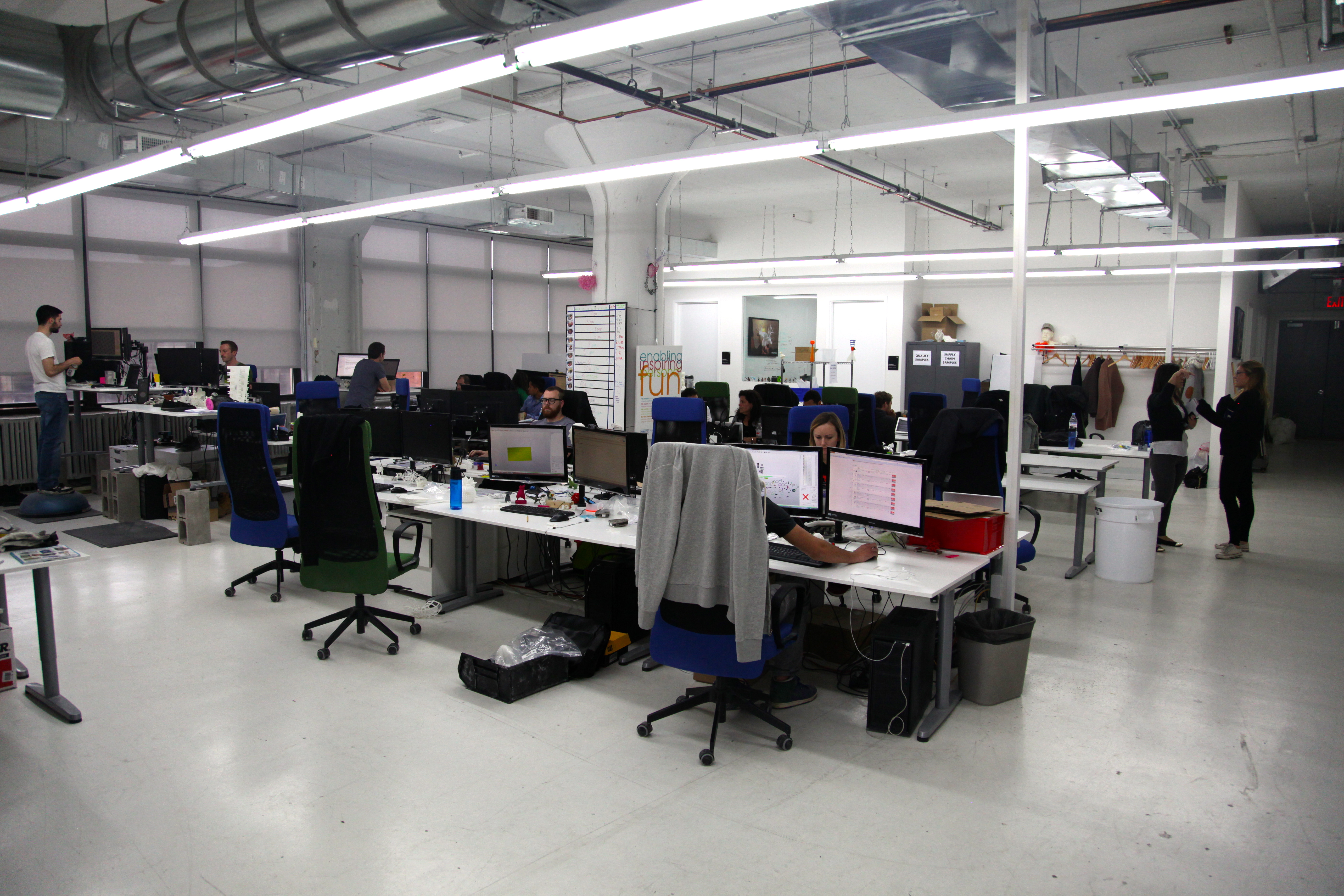 The office portion of Shapeways' Long Island City-based factory. The company has headquarters in Manhattan. Photo by Signe Brewster