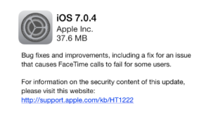 ios 7.0.4 update