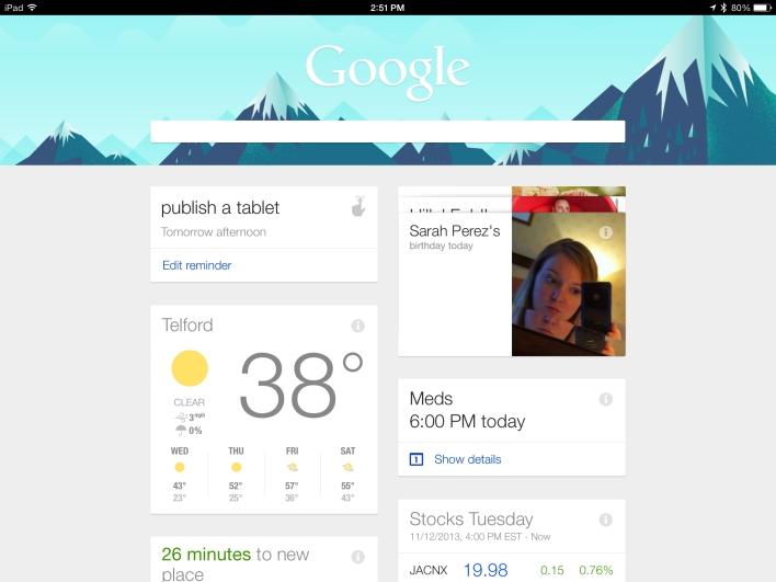 ipad air google now
