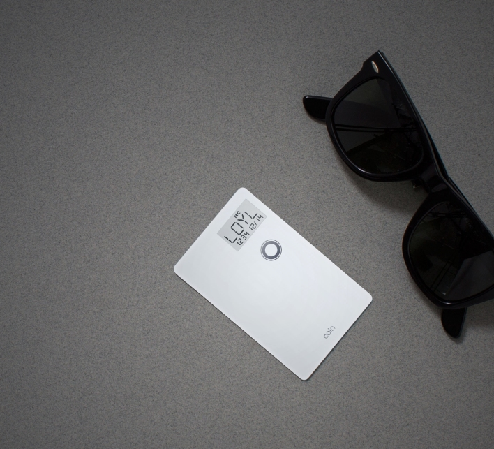 Coin card sunglasses
