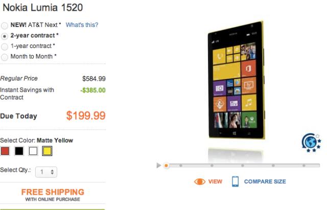 Lumia 1520 AT&T