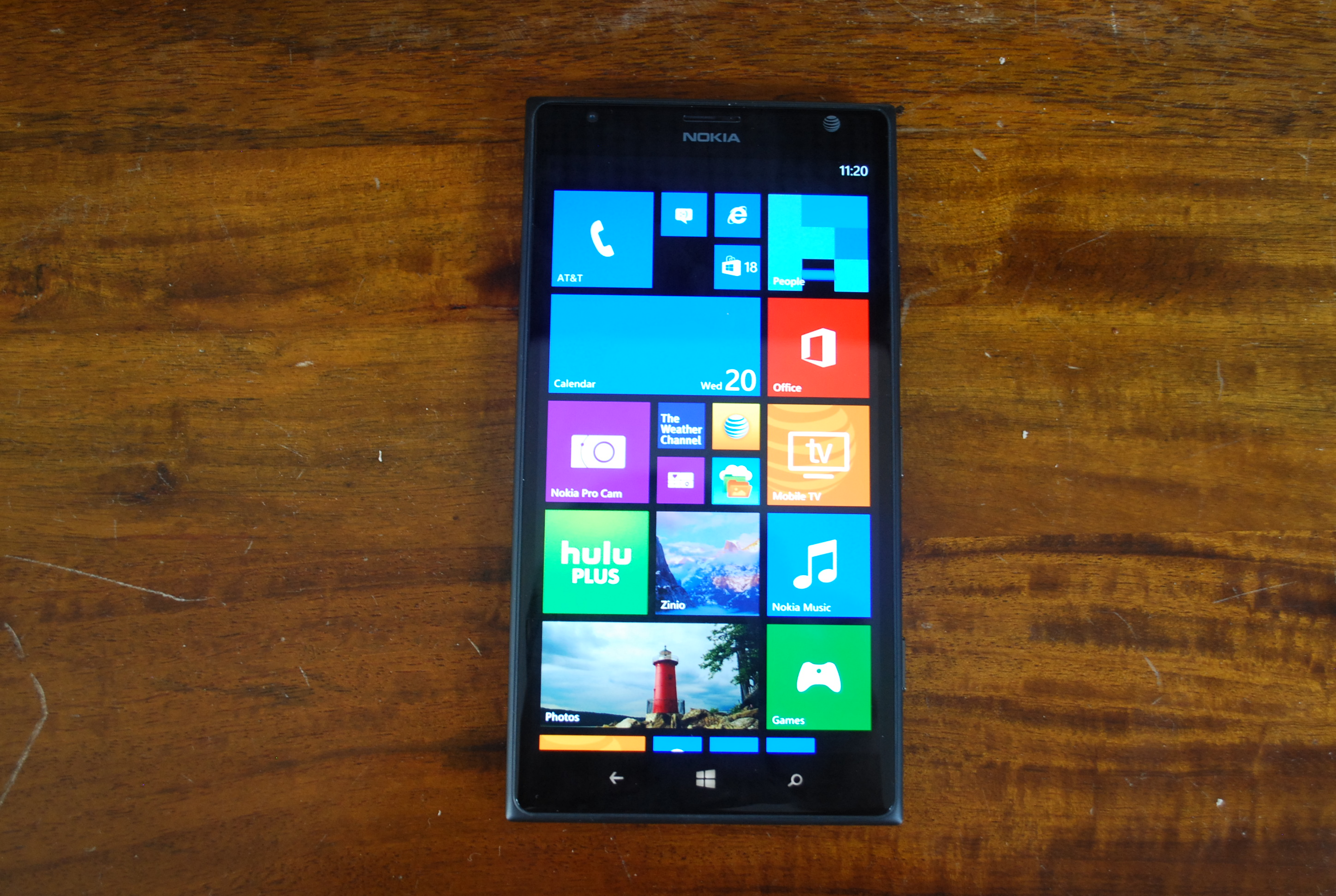 Lumia 1520 display