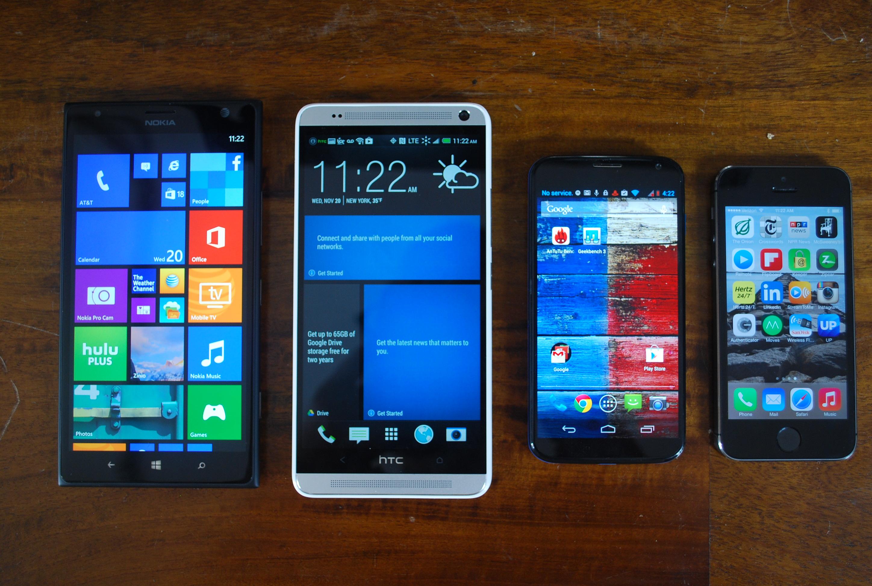 Lumia 1520 size comparison