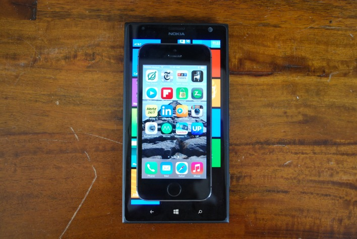Lumia 1520 vs iPhone 5s