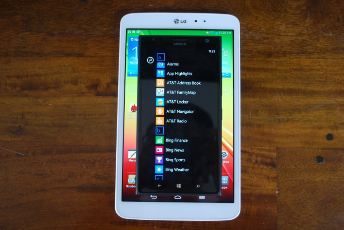 Lumia 1520 vs LG G Pad