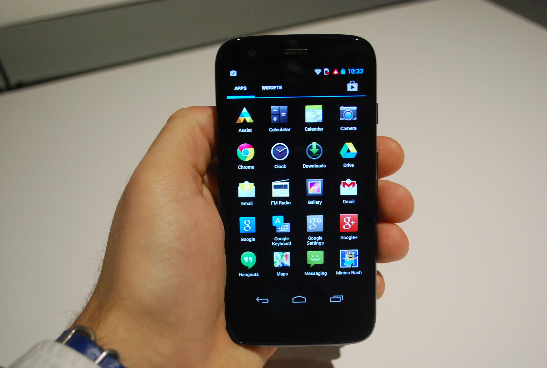 Moto G app menu