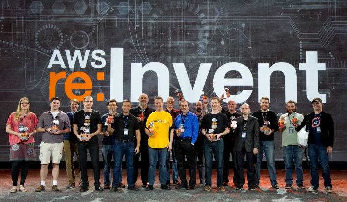 Netflix OSS Cloud Prize winners at AWS re:Invent.