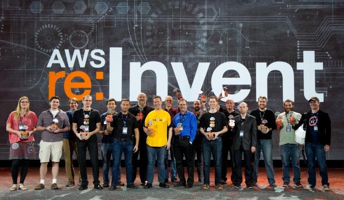 Netflix OSS Cloud Prize winners at AWS re:Invent.