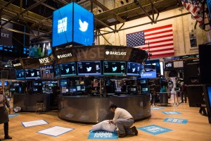 Twitter goes public on the New York Stock Exchange. Photo: Getty Images