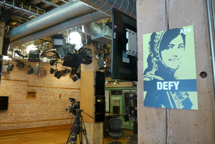 AJ+ got its studio through the acquisition of Current TV earlier this year, but is now upgrading the space.