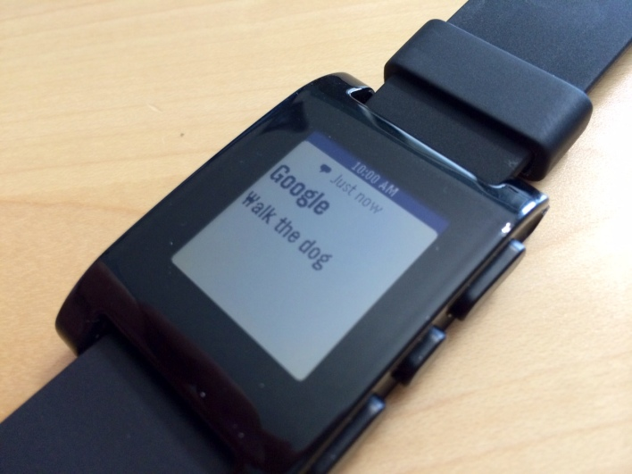 pebble google now notification