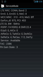 AT&T PCS LTE screenshot