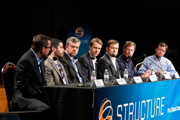 Schuller (second from left) has been at this awhile. Here he is at Structure 2010.