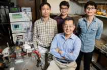 Postdoctoral researcher Fei Tan, graduate students Mong-Kai Wu and Michael Liu, led by Milton Feng