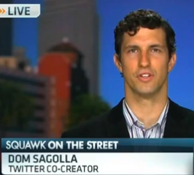 Screenshot of Dom Sagolla on CNBC