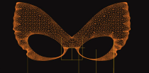 Butterfly glasses 3D model