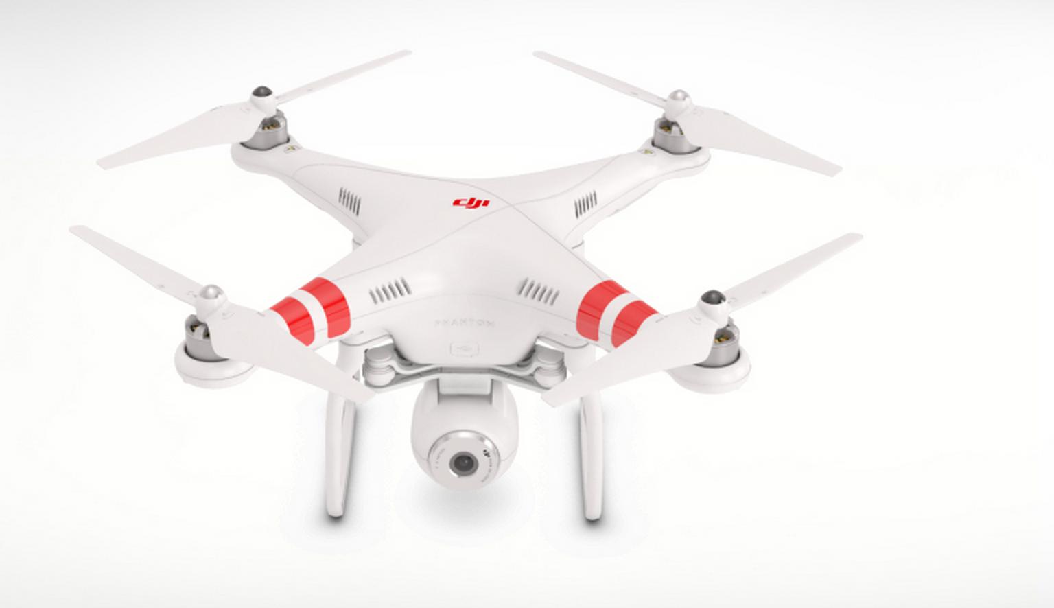 The Phantom 2 Vision quadcopter. Photo courtesy of DJI