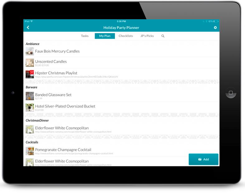 Springpad iPad templates