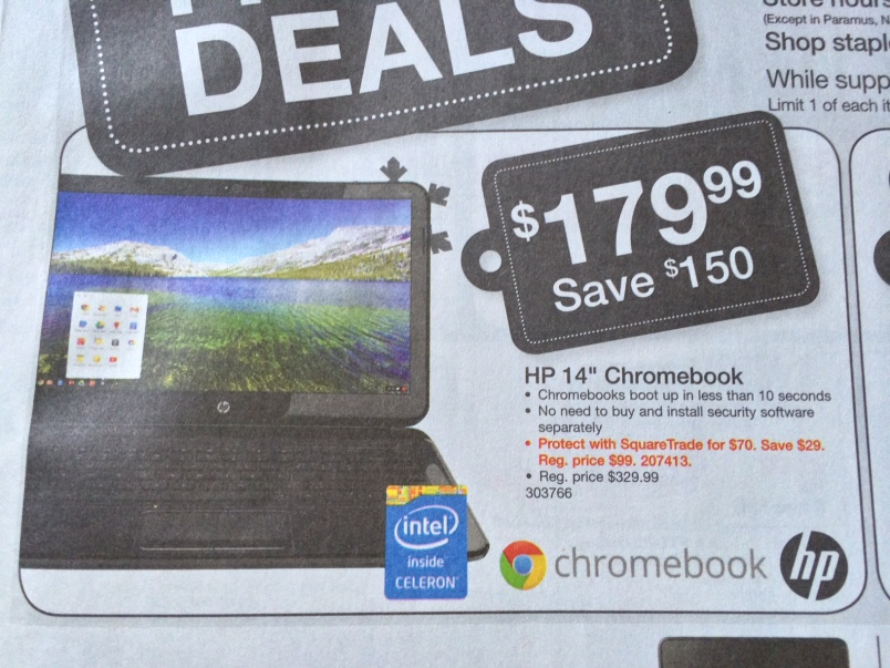 Staples Chromebook 14