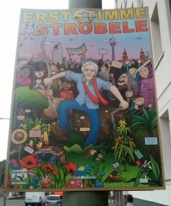 Stroebele campaign poster