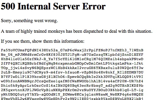 youtube down error message