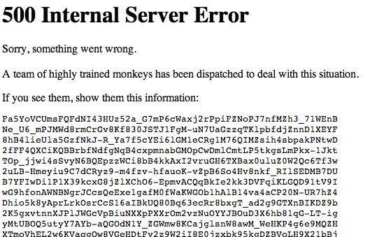 youtube down error message