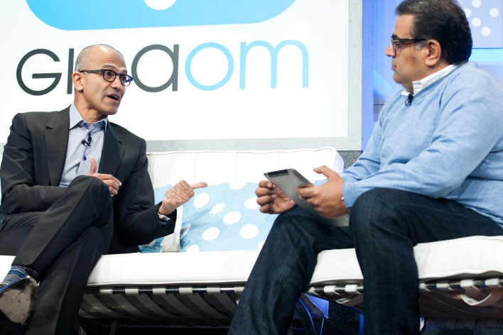 Moderated by: Om Malik - Founder and Senior Writer, GigaOM Speakers: Satya Nadella - President, Server and Tools Business, Microsoft
