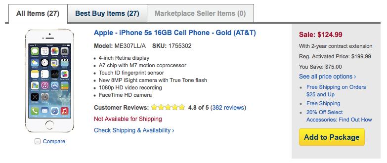 Best Buy iPhone sale