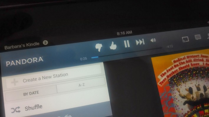 Pandora and other apps supports casting even from a Kindle Fire.