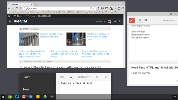 chrome in windows 8 mode