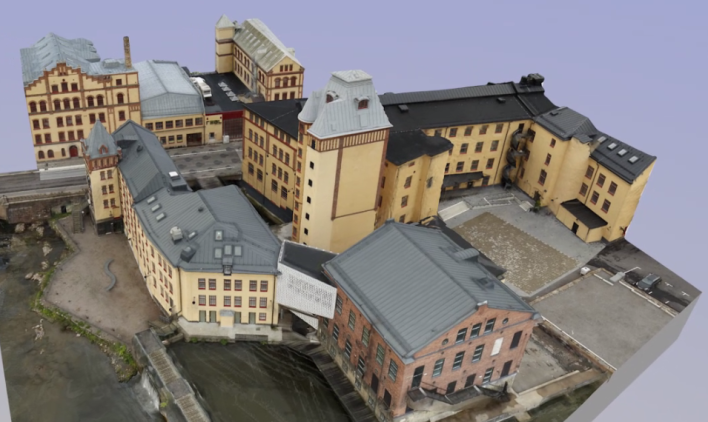 Model built using drone-collected data.