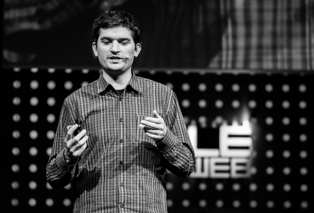 Dalton Caldwell speaks at Le Web in on Dec. 4, 2012 in Paris.