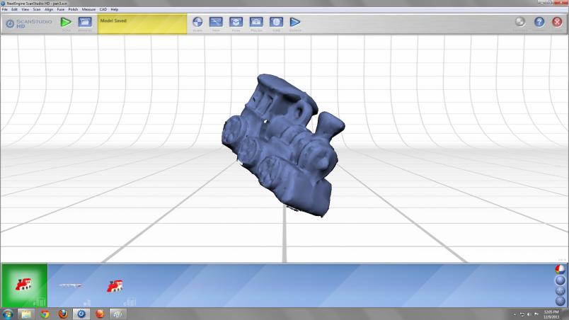 Train 3D scan