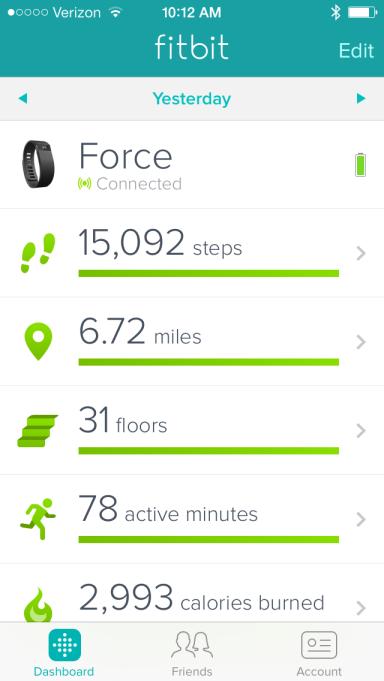 Fitbit Force app