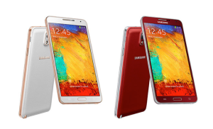Galaxy Note 3 gold red