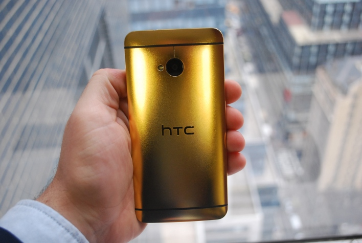 Gold HTC One back