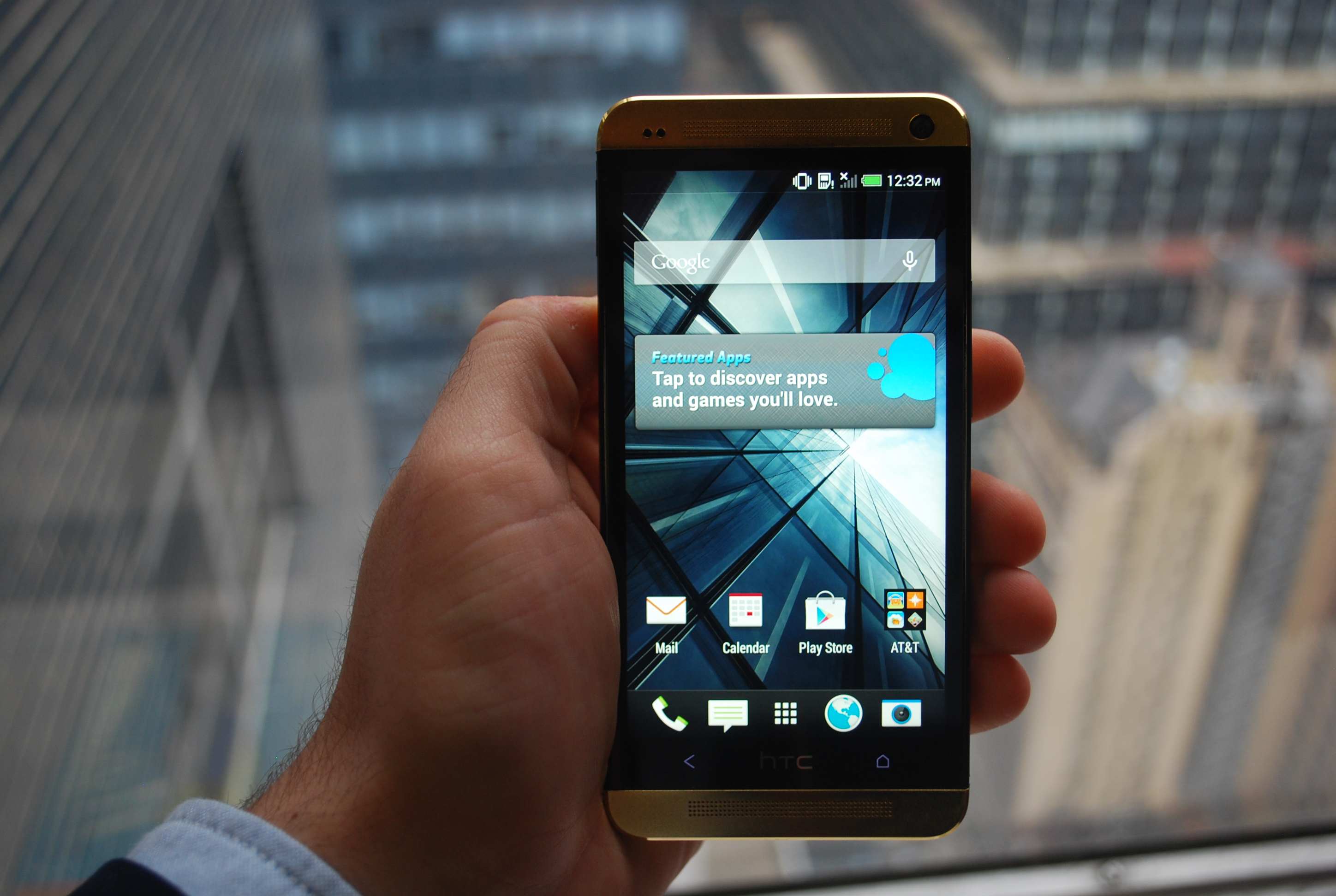 Gold HTC One front