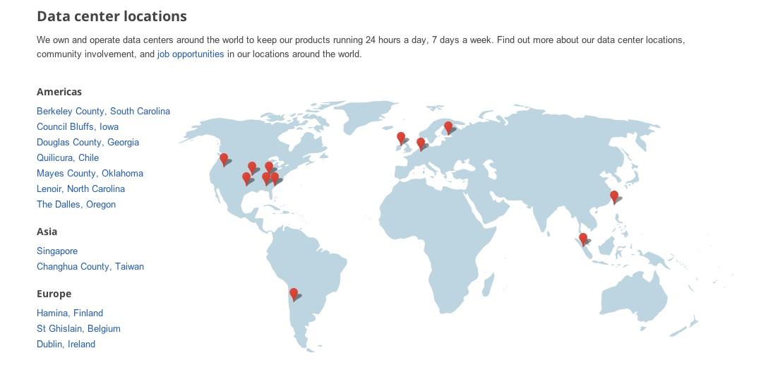 data map: