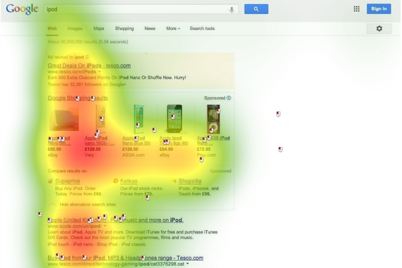 Google iPod heatmap