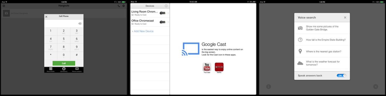 Google on iPad