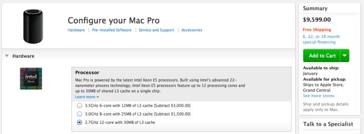 Mac Pro configuration