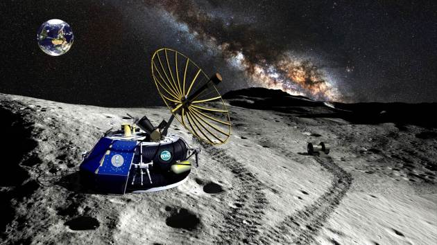 Moon Express MX-1 Spacecraft explores the Moon and the cosmos from the lunar south pole