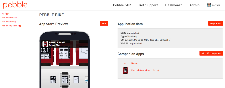 pebble appstore example