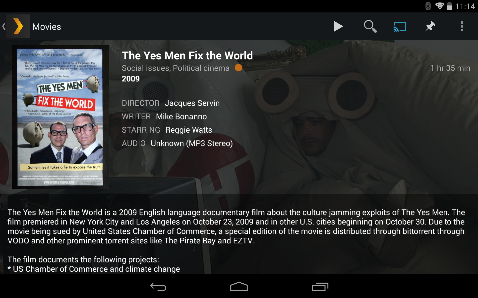 Plex is great for playing homemade or downloaded videos on your Chromecast. The Plex server even transcodes videos on the fly that aren't in the right file format.