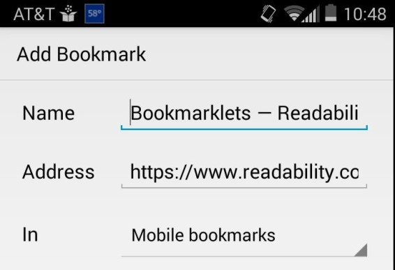 Read bookmarklet
