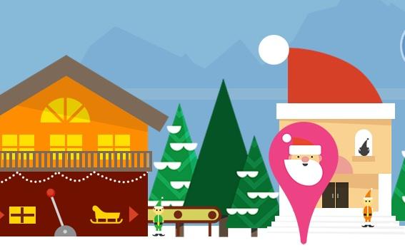 santa tracker feature art